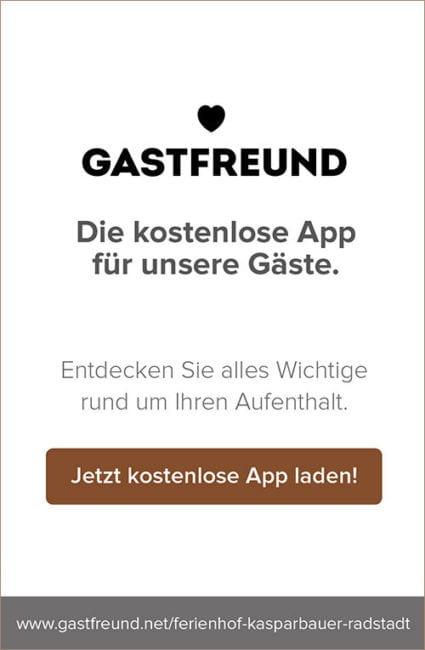 Gastfreund-App - Kasparbauer